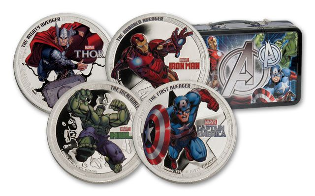 Niue 1-oz Silver Marvel Avengers Proof Set 4pc