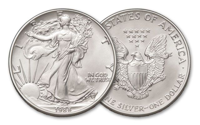 The 1988 Silver Eagle was the third mintage for the popular American Silver Eagle series. Now that silver had been readily available to investors for three years, demand for precious metals had subsided slightly, causing the U.S. Mint to reduce the size o