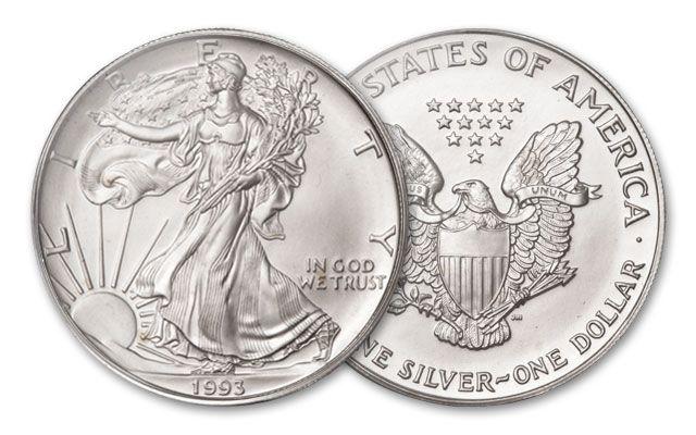 1993 1 Dollar 1-oz Silver Eagle BU
