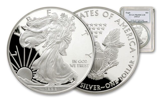1999 1 Dollar 1-oz Silver Eagle NGC/PCGS Proof 69
