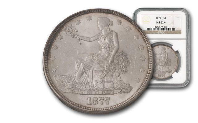 1877-P Silver Trade Dollar NGC MS62