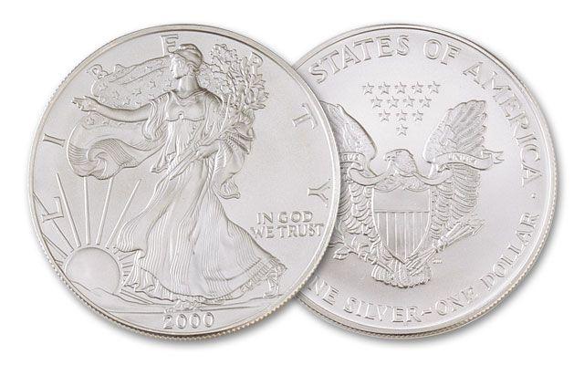 2000 1 Dollar Silver Eagle BU