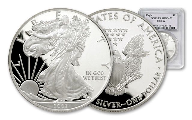 2003 1 Dollar Silver Eagle NGC/PCGS Proof 69