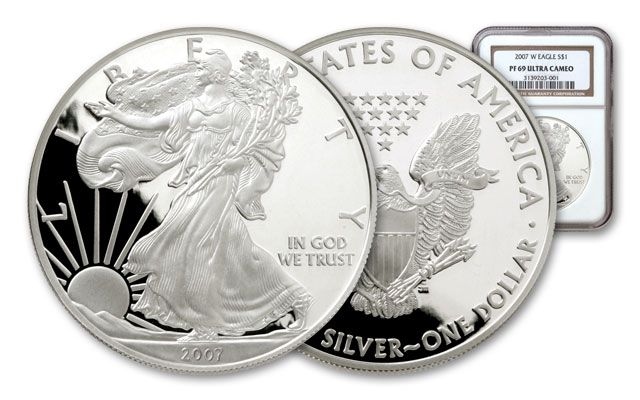 2007 1 Dollar Silver Eagle NGC/PCGS Proof 69
