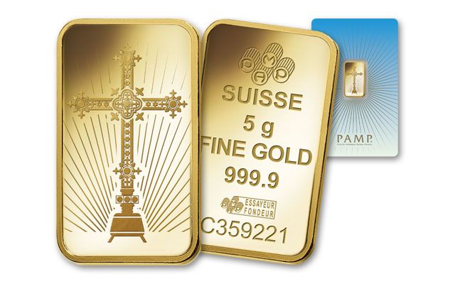Pamp Suisse 5 Gram Gold Cross Bar Bu In Assay Card