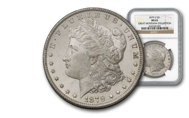 1879-S Morgan Silver Dollar NGC MS63 - Great Montana Collection