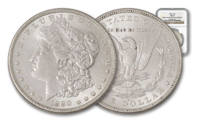 1890-S Morgan Silver Dollar NGC MS64 - Great Montana Collection