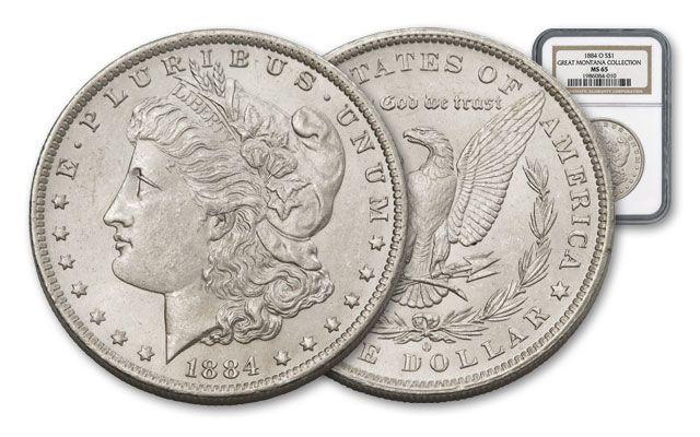 1884-O Morgan Silver Dollar NGC MS65 - Great Montana Collection