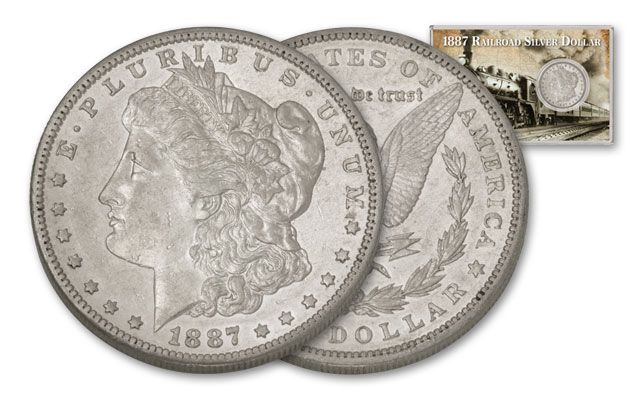 1887 Morgan Silver Dollar Railroad XF