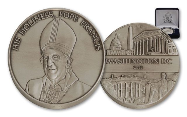 2015 1-oz Silver Pope Francis US Tour Washington DC BU