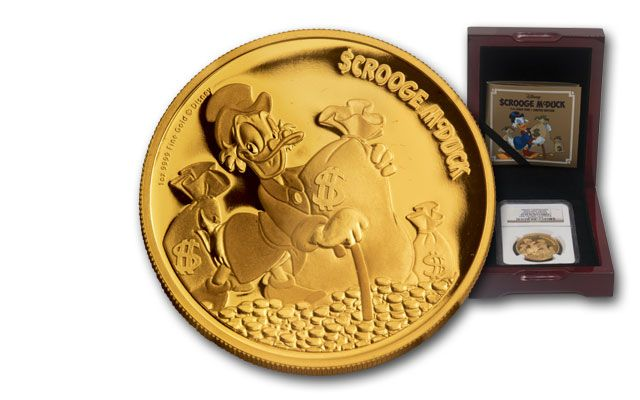 2015 Niue 1-oz Gold Disney Scrooge McDuck NGC PF70UCAM First Struck