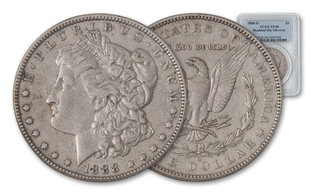 1888-O Morgan Silver Dollar Double Die Obv. PCGS XF40