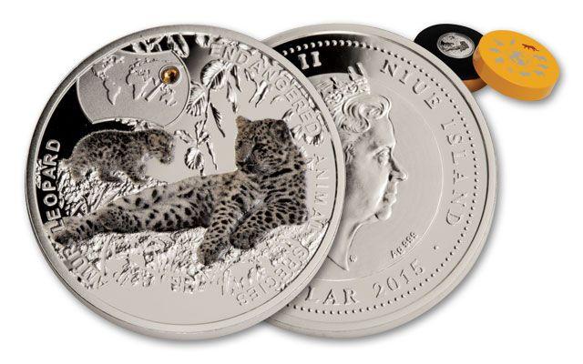2015 Niue 1 Dollar Amur Leopard Silver Proof