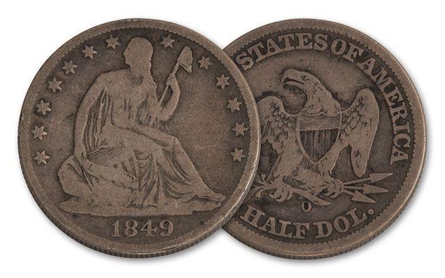 1840-1861-O 50 Cent Seated Liberty