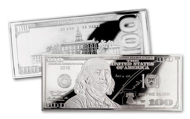 2016 100 Dollar 4-oz Silver Franklin Proof