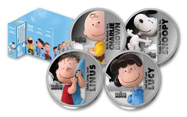 2015 Niue 1-oz Silver Peanuts Movie Proof 4-Coin Set