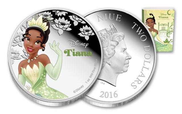 2016 Niue 1-oz Silver Disney Tiana Proof