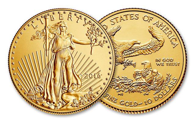2016 10 Dollar 1/4-oz Gold Eagle BU