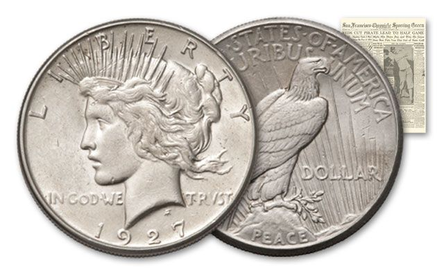 1927-PDS Peace Dollar Murderers Row Set XF