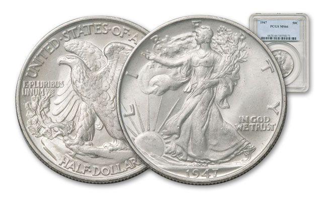 1941-1947 Walking Liberty Half Dollar NGC/PCGS MS66