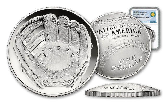 2014-P Baseball Hall of Fame Silver Dollar NGC PF69