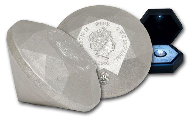 2016 2 Dollar 1.5-oz Diamond shaped Coin Satin Finish