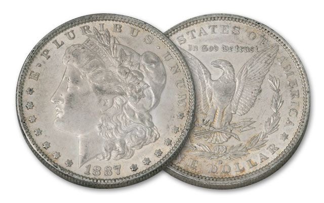 1887/1889-O Morgan Silver Dollar 2pc Set XF