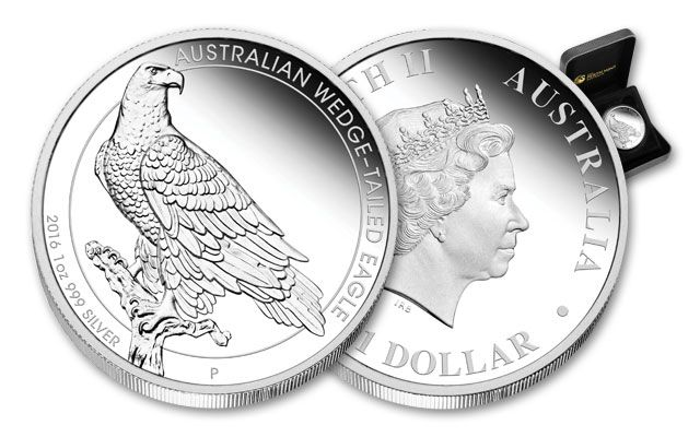 2016 Australia 1 Dollar Silver Wedge Tailed Eagle Proof
