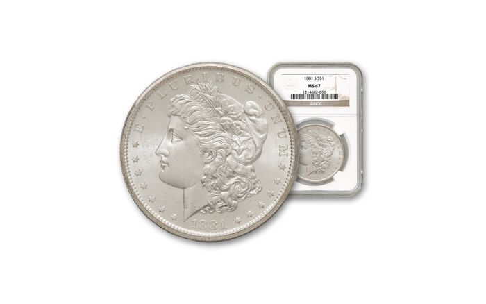 1881-S Morgan Silver Dollar NGC PCGS MS67