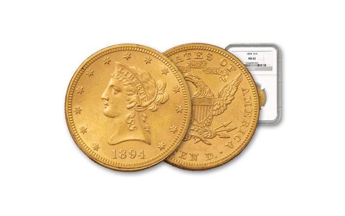 1894 10 Dollar Gold Liberty NGC/PCGS MS62
