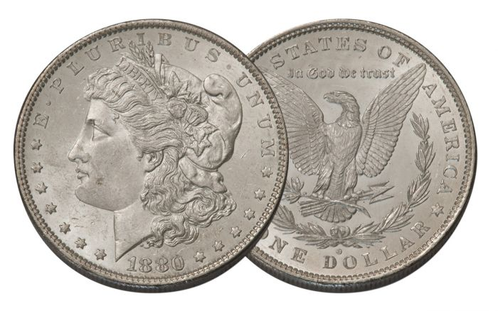 1880-O Morgan Silver Dollar BU