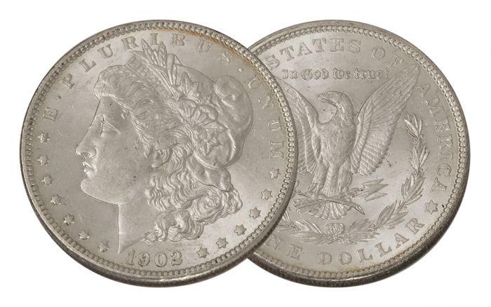 1902-P Morgan Silver Dollar BU