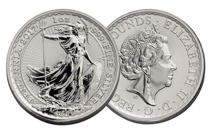 2017 Uk 163 2 1 Oz Silver Britannia Anniversary Bullion Coin