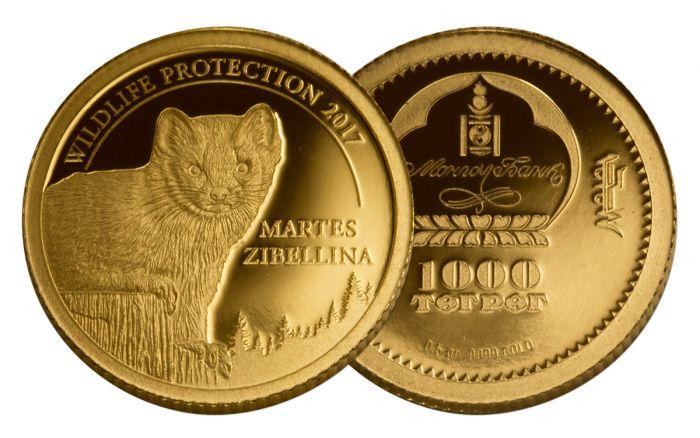 2017 Mongolia 189 G Gold Wildlife Protection Martes