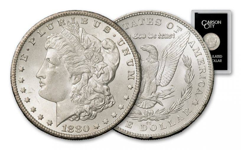 1880-CC Morgan Silver Dollar BU GSA Holder