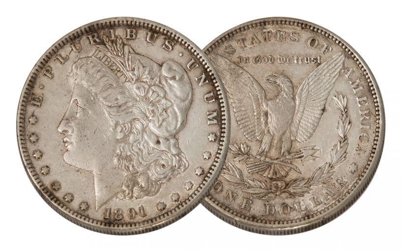 1891-P Morgan Silver Dollar XF
