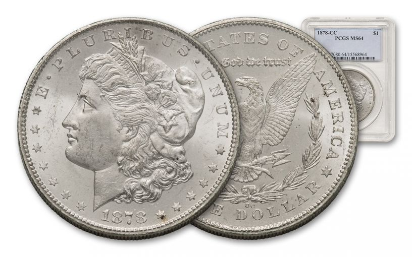 1878-CC Morgan Silver Dollar PCGS MS64