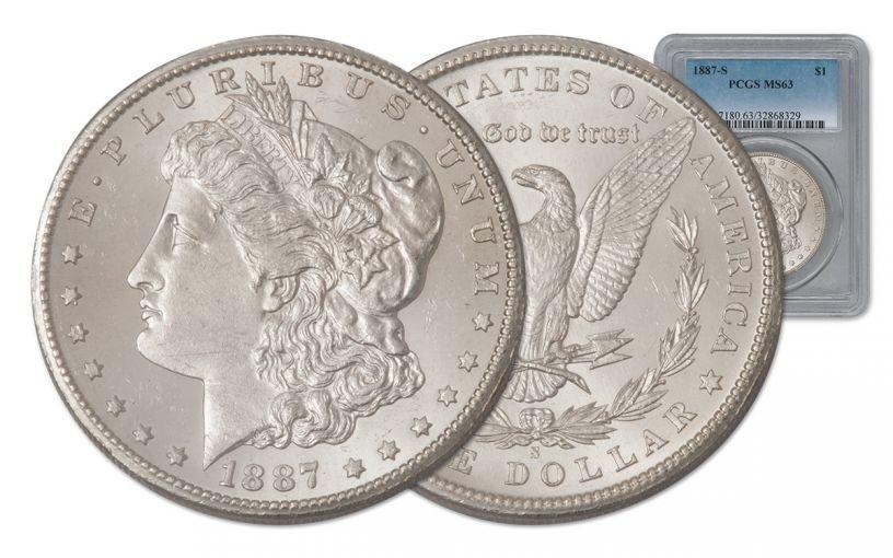 1887-S Morgan Silver Dollar PCGS MS63
