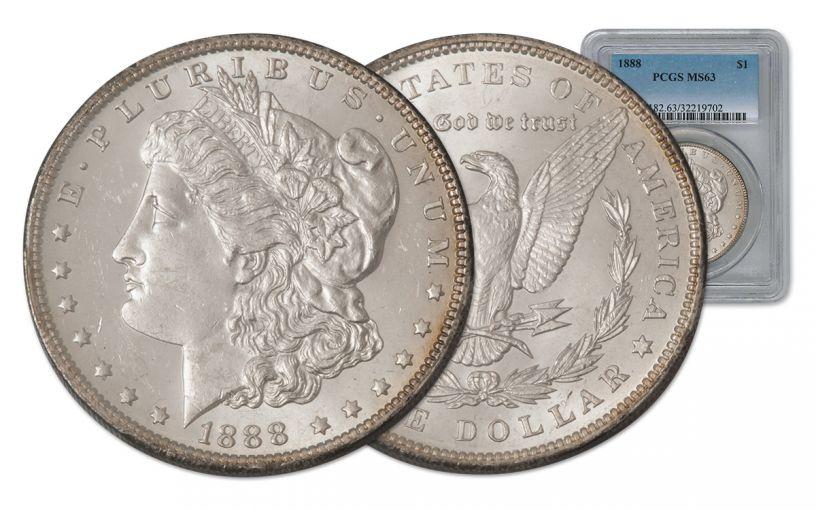 1888-P Morgan Silver Dollar PCGS MS63