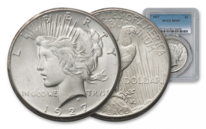 1927-P Peace Dollar PCGS MS65