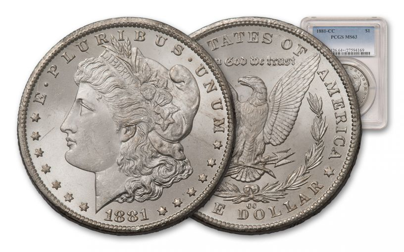 1881-CC Morgan Silver Dollar PCGS MS63