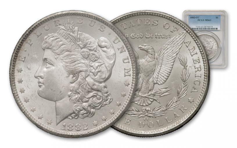 1882-CC Morgan Silver Dollar PCGS MS63