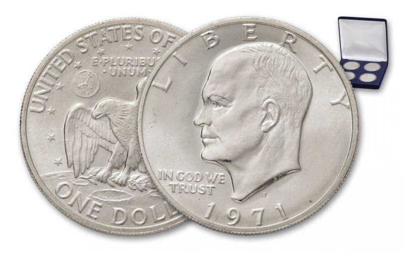 1971-1974 Eisenhower Dollar Silver BU Set 4pc