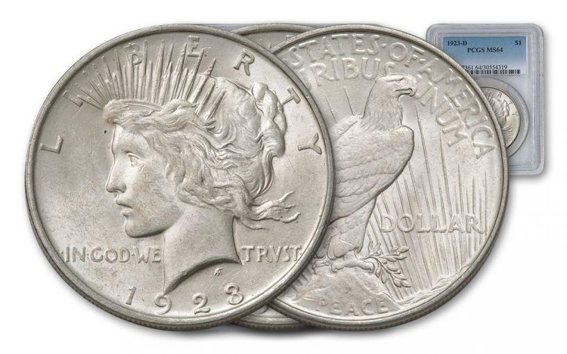 1923-D Peace Dollar PCGS MS64