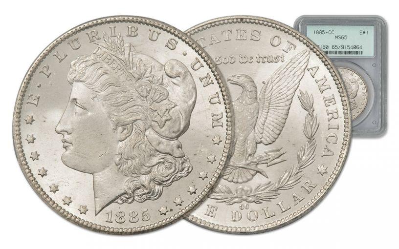 1885-CC Morgan Silver Dollar PCGS MS65