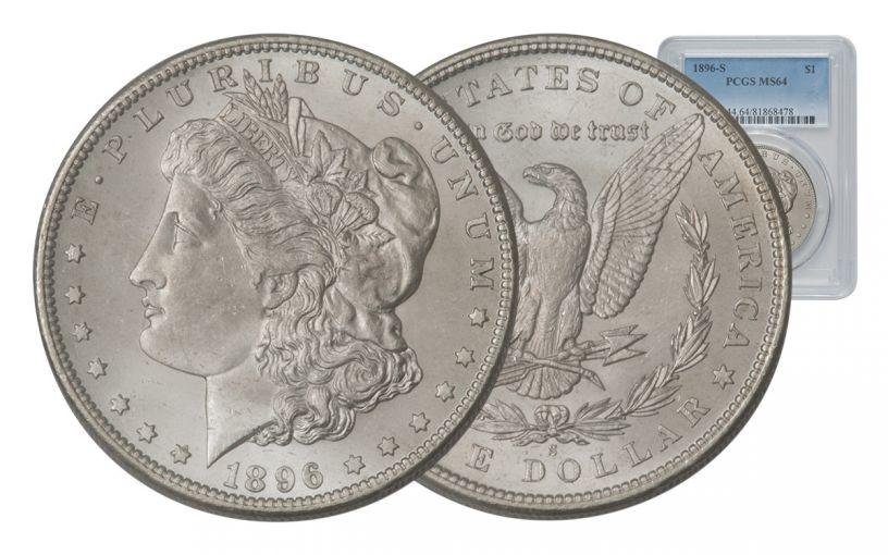 1896-S Morgan Silver Dollar PCGS MS64