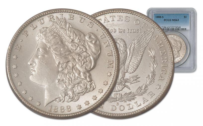 1888-S Morgan Silver Dollar PCGS MS63
