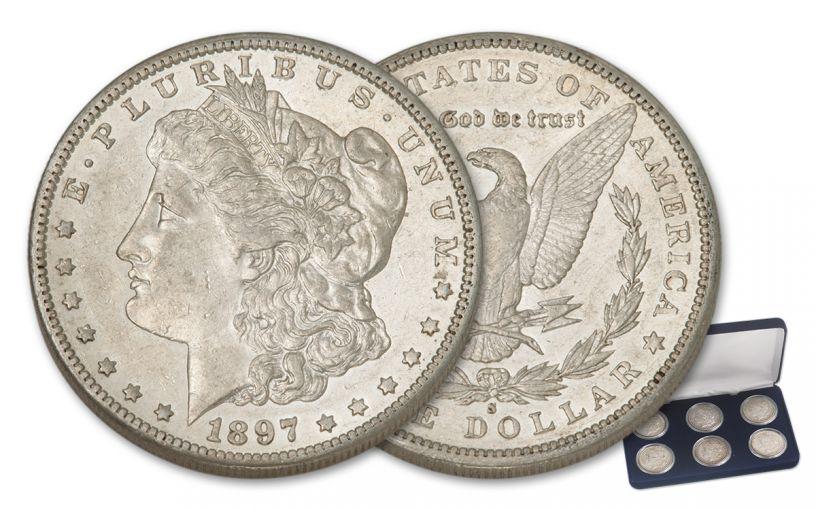 1883-1897-S Morgan Silver Dollar XF 6 Pc Set