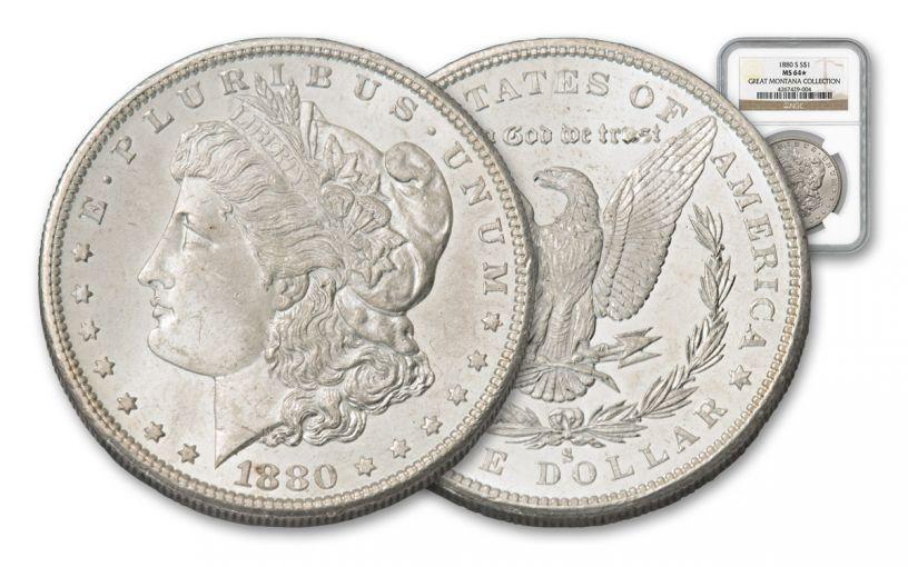 1880-S Morgan Silver Dollar NGC MS64 - Great Montana Collection