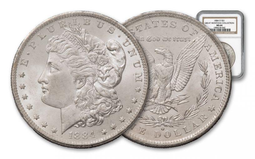 1884-O Morgan Silver Dollar NGC MS64 – Great Montana Collection
